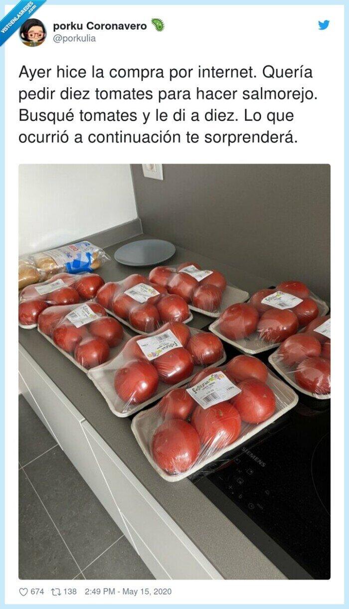 comprar,salmorejo,tomates