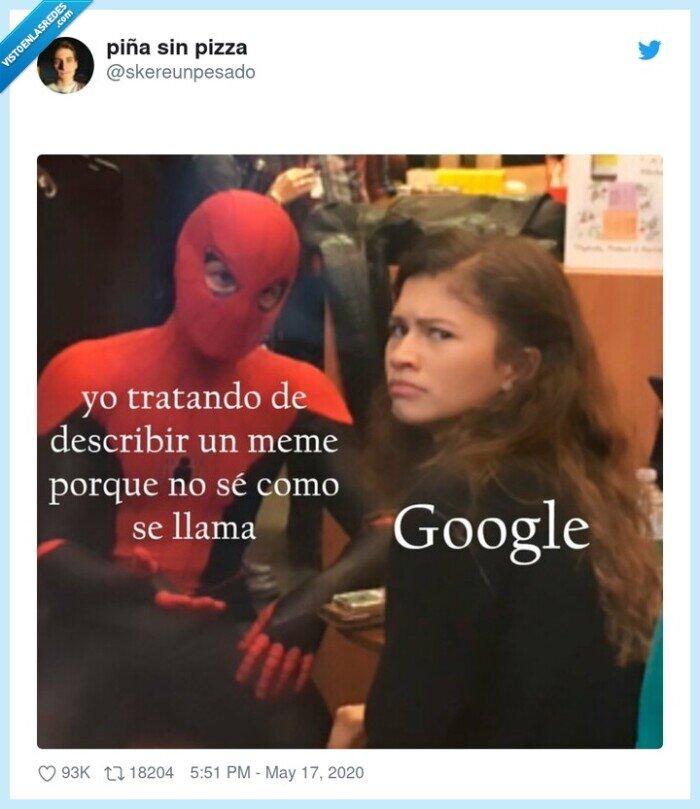 google,memes,spiderman,zendaya
