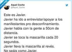 Enlace a La mascarilla está bien, el que está al revés es Javier, por @Aquel_Coche