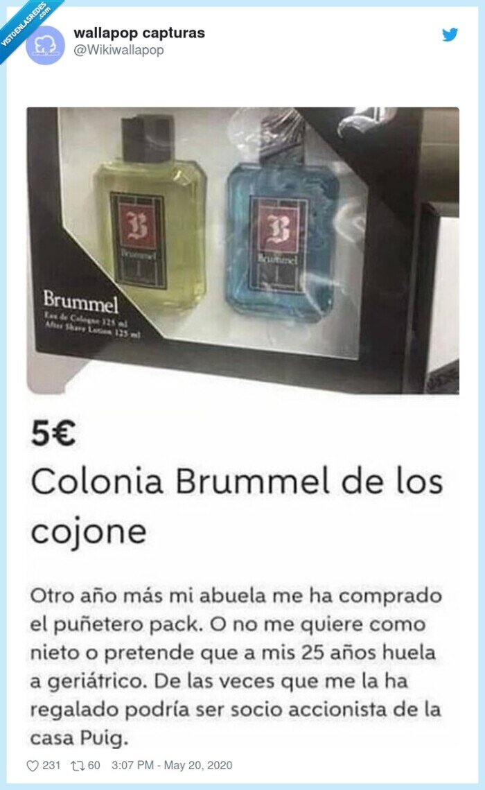 brummel,colonia,regalo