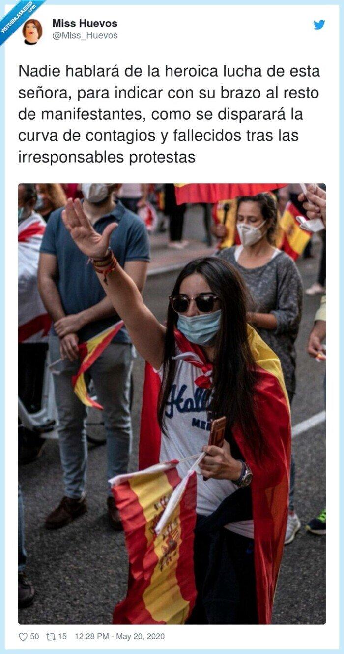 contagios,fallecidos,irresponsables,manifestantes,protestas