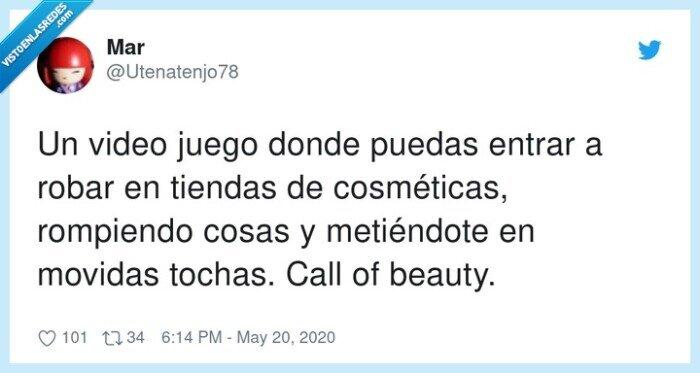 call of beauty,cosméticas,movidas,tiendas,videojuego