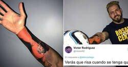 Enlace a Este portero se hace un tatuaje brutal de Benji en el brazo y todo el mundo se ríe de él por lo mismo, por @aldonzadiego