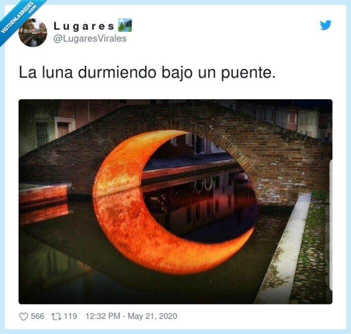 bajo,durmiendo,luna,puente