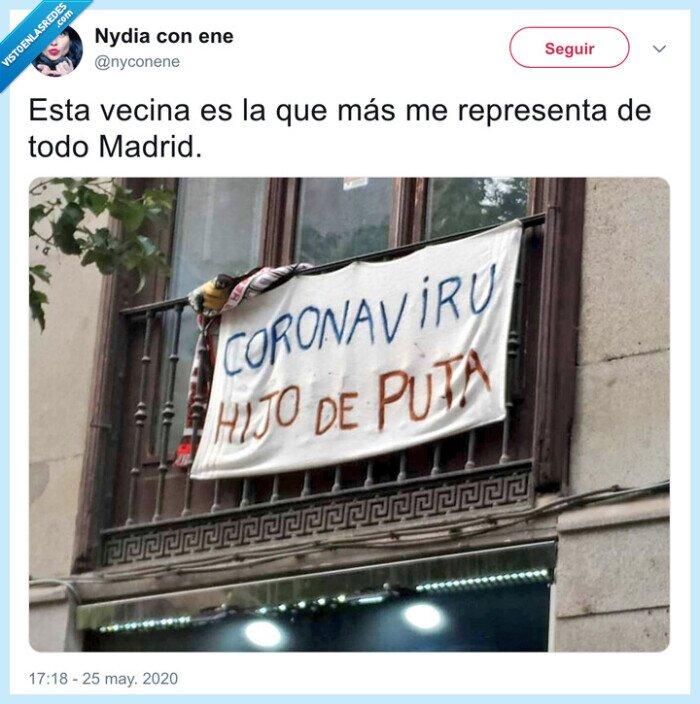 cartel,coronavirus,madrid,representa,vecina