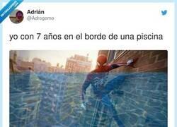 Enlace a Cuando te sientes Spiderman en el agua, por @Adrogomo