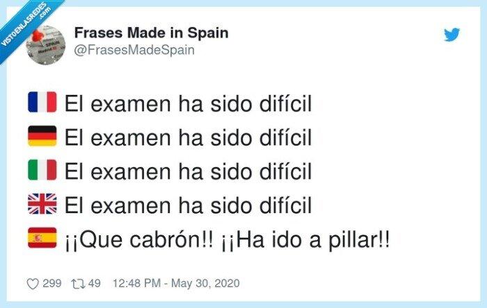 difícil,español,examen