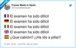 Enlace a El examen ha sido difícil, por @FrasesMadeSpain
