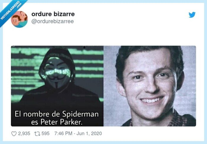 anonymous,peter parker