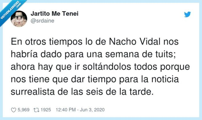 2020,nacho vidal,noticia,soltándolos,surrealista