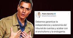 Enlace a Pedro Sánchez la caga tremendamente y se hace el auto-zasca del año, por @mejoreszasca