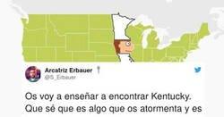 Enlace a Tremendamente genial la forma en la que encontrar Kentuky en el mapa, por @S_Erbauer