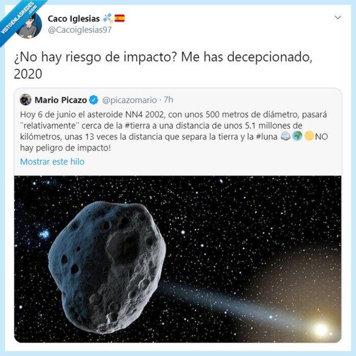 2020,asteroide,impacto