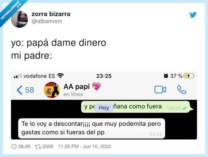 dinero,gastar,padre,papá,podemita,pp