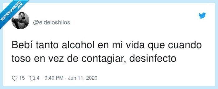 alcohol,beber,contagiar,desinfectar