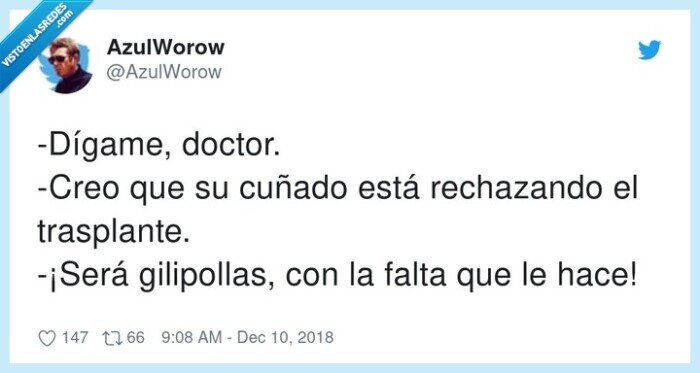 cuñado,doctor,rechazar,trasplante