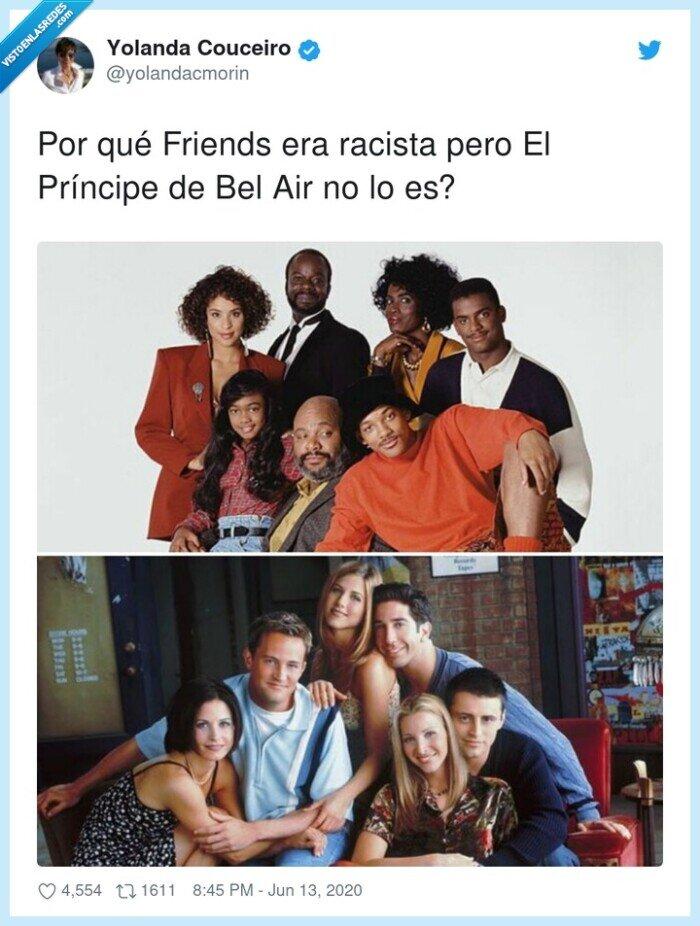 friends,príncipe de bel air,racista,series