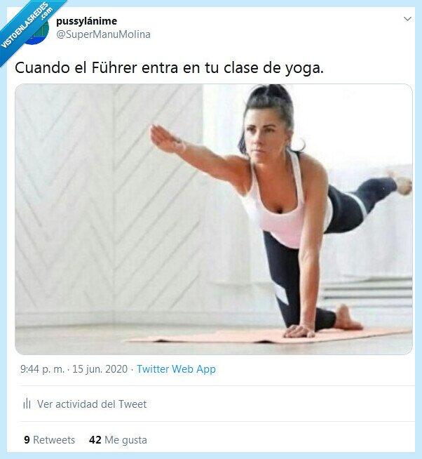 clase,führer,saludo,yoga