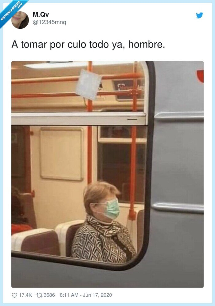 coronavirus,mascarilla,señora,tren