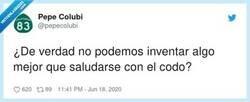 Enlace a Lo mejor es no saludarse, por @pepecolubi