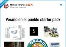 Enlace a Verano en el pueblo, starter pack, por @memes_tarancon