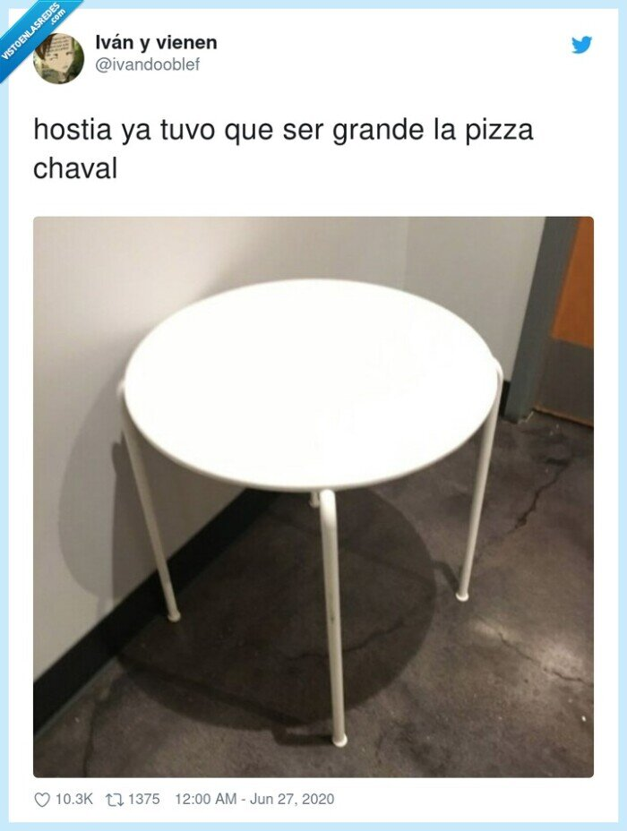 chaval,grande,hostia,mesa,pizza