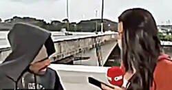 Enlace a Asaltan a punta de cuchillo a una reportera que estaba en directo y pone los pelos de punta