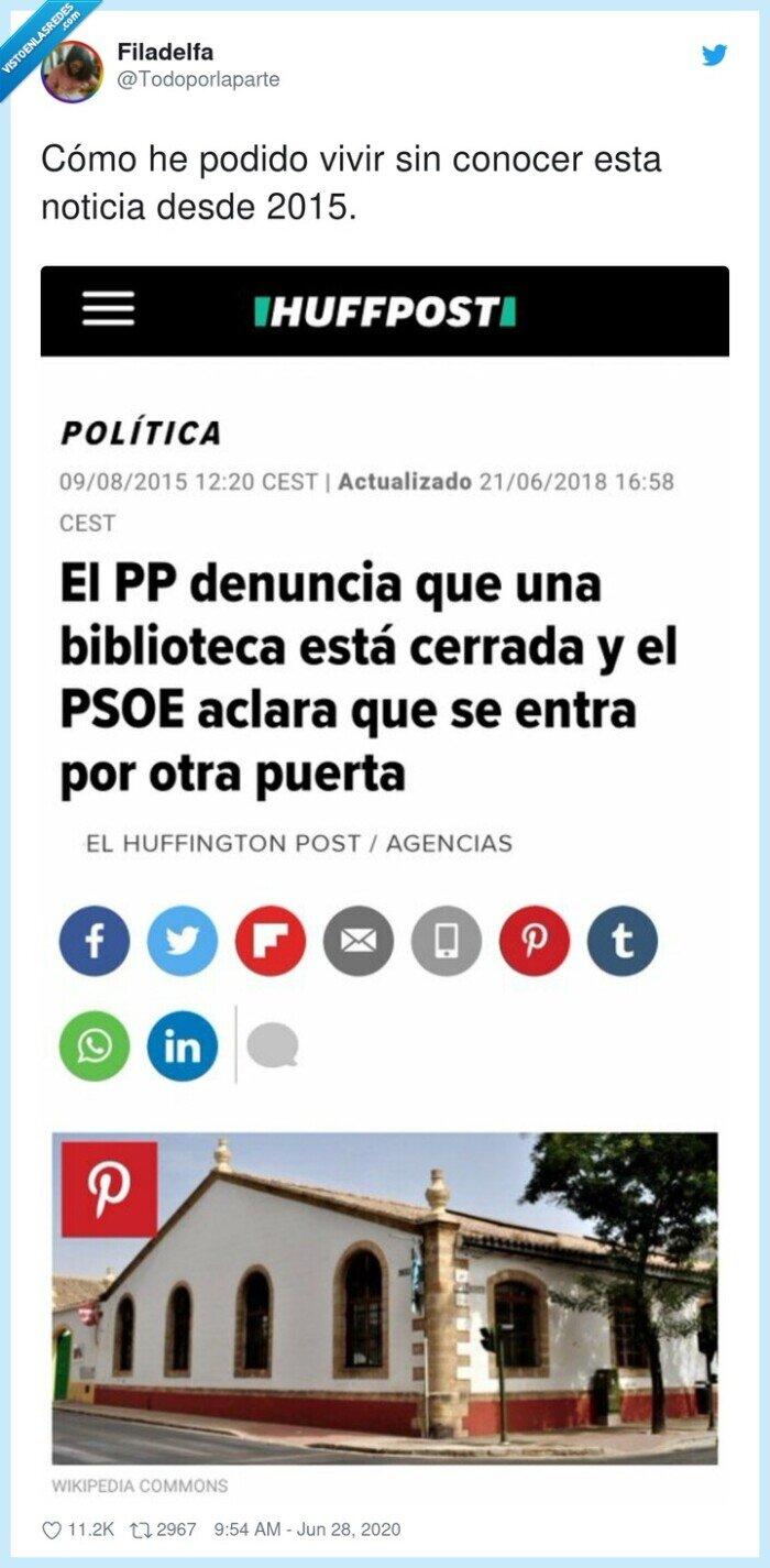 biblioteca,noticia,pp,puerta