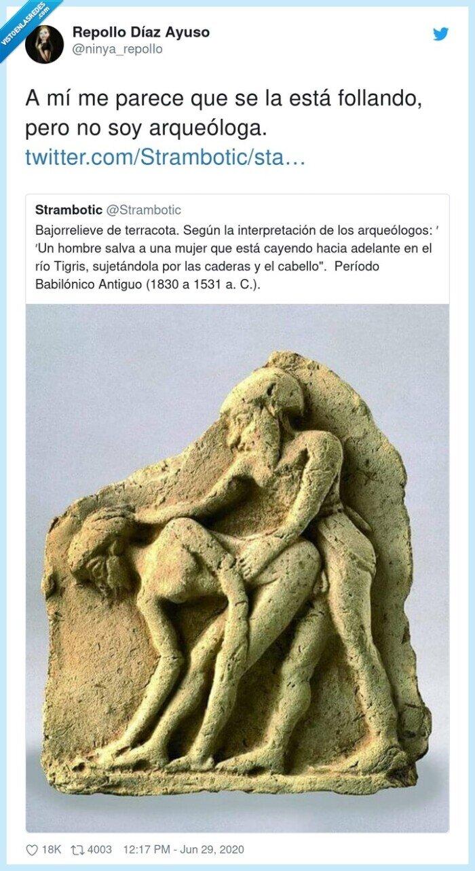 arqueóloga,escultura,parecer
