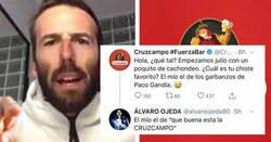 Enlace a Menuda somanta de leches se ha llevado Álvaro Ojeda tras intentar vacilar a Cruzcampo, por @kikolo777