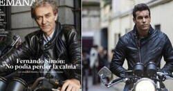 Enlace a La portada de Fernando Simón como motorista malote está generando grandes LOLS y parecidos razonables brutales
