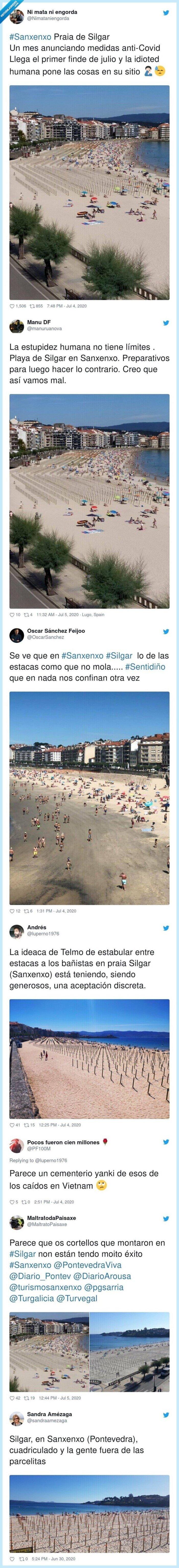distanciamiento,galicia,medidas,playa,sanxenxo,silgar