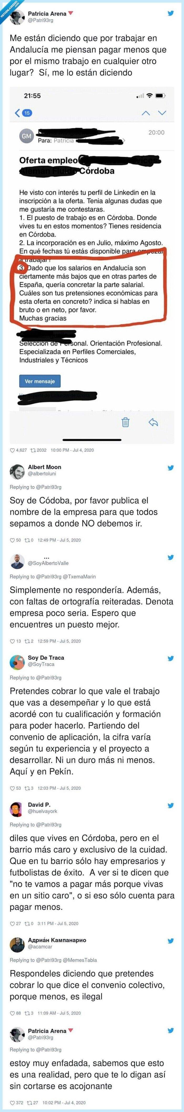 Andalucía,cobrar,Córdoba,menos,trabajo