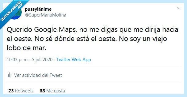 dirigir,google maps,GPS,oeste
