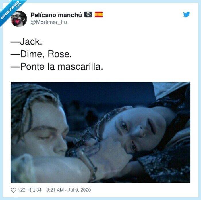 jack,mascarilla,rose,titanic