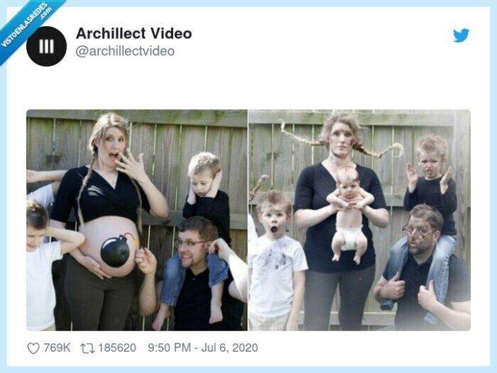 bomba,familia,foto,hijo