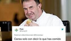Enlace a El cocinero Martín Berasategui explica qué cena en un día normal: las respuestas comparativas de Twitter son oro puro