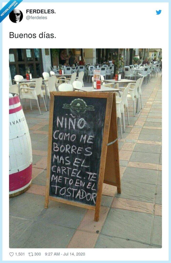 bar,borrar,cartel,niño