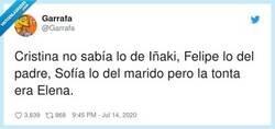 Enlace a Ahora se explica el cabreo de Cristina cuando el Emérito se puso estupendo con su marido, por @Garrafa
