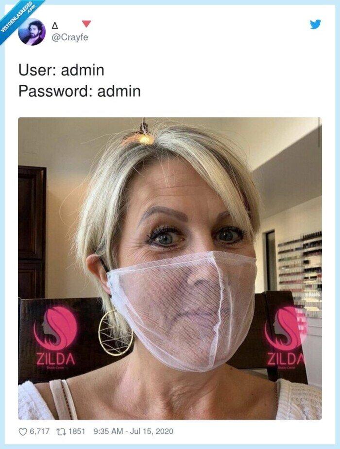 admin,contraseña,mascarilla,password,user