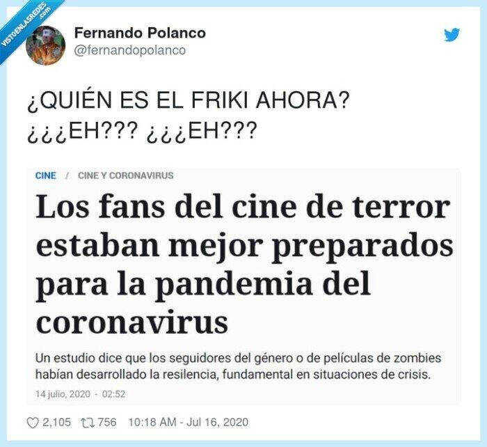 cine,coronavirus,friki,pandemia,preparados,terror