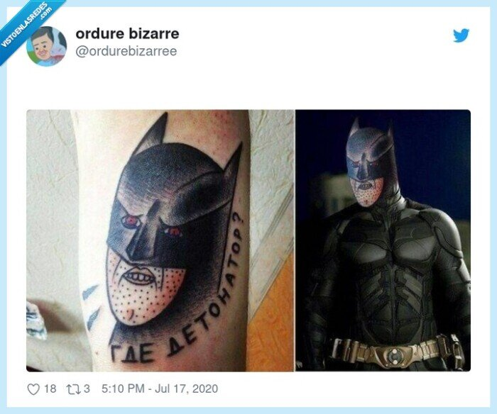 Batman,mal,tatuaje