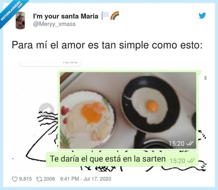 amor,Huevos,sartén