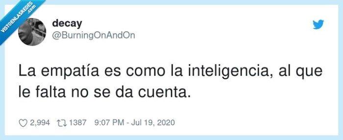 empatía,falta,inteligencia