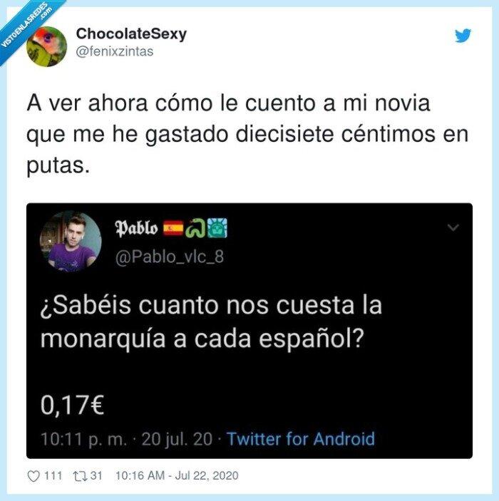 céntimos,diecisiete,español,monarquía