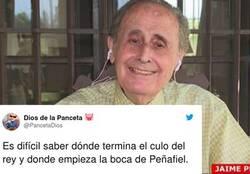 Enlace a Peñafiel se corona con el comentario machista de la semana sobre los escándalos sexuales del Rey emérito y Twitter lo pone a caldo