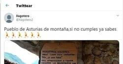 Enlace a Así defiende este humilde pueblo de Asturias a sus mayores antes la presencia de turistas: el cartel que ha cautivado a Twitter