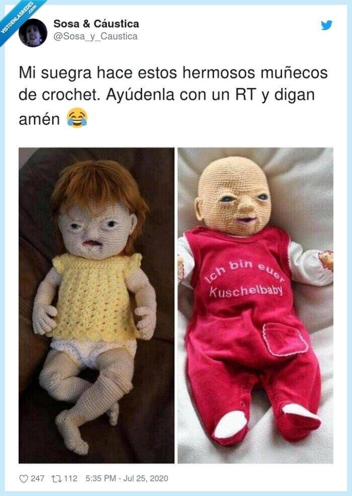 crochet,fetos,muñecos,suegra