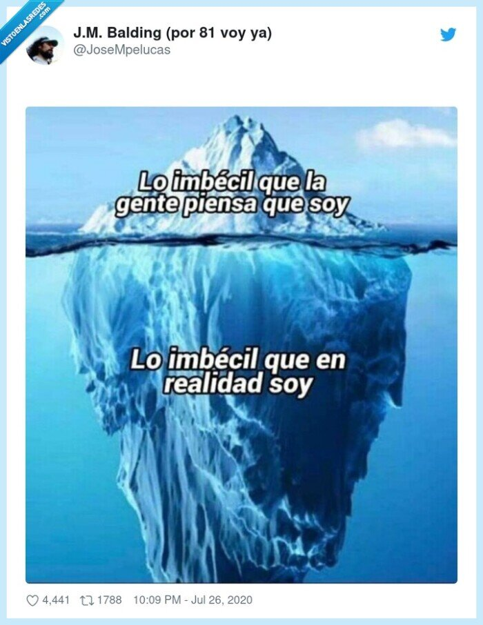 gente,iceberg,imbécil,piensa