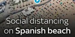 Enlace a La playa de Cádiz que se ha convertido en un ejemplo mundial por cómo cientos de bañistas han respetado la distancia entre ellos